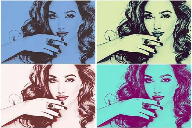 20 Pop Art Photoshop Actions