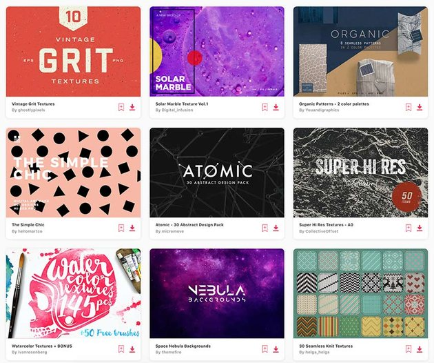 Enjoy unlimited texture Illustrator downloads with a subscription to Envato Elements.