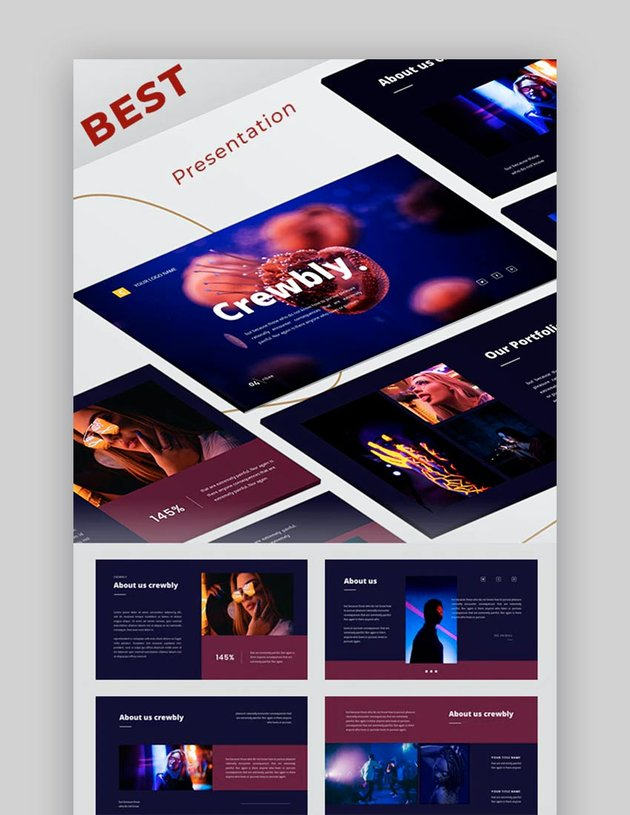 Crewbly - Business Google Slides Template