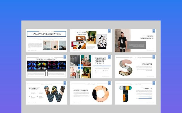 Haluiva - Pitch Deck Keynote Template
