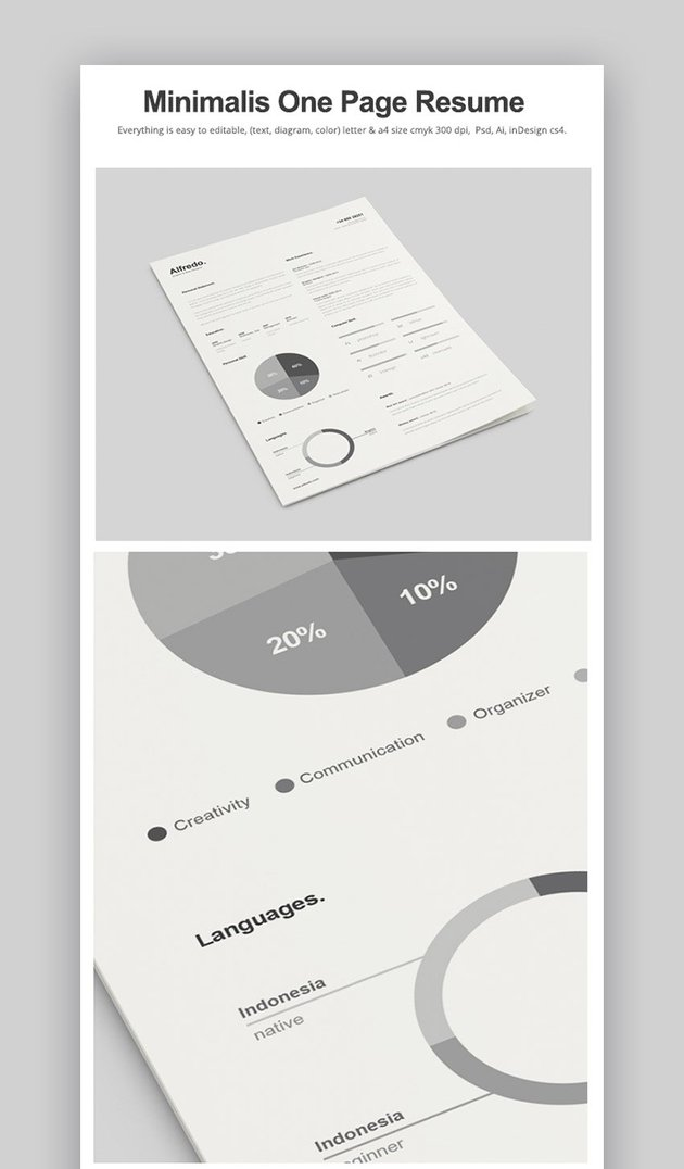 Minimalist One Page Resume
