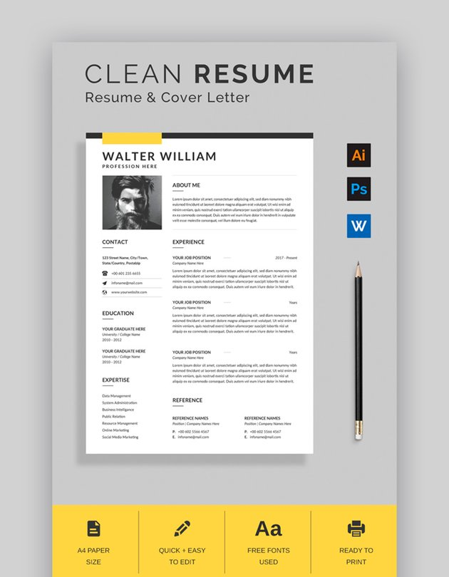 Clean Single Page Resume Format