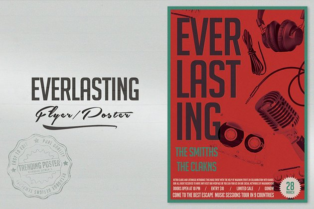 Everlasting Songs Poster Template (PSD)