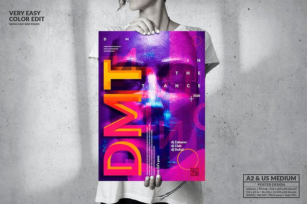 Music Event - Abstract Poster Design (PSD)