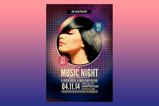 Music Night Poster Template (PSD)