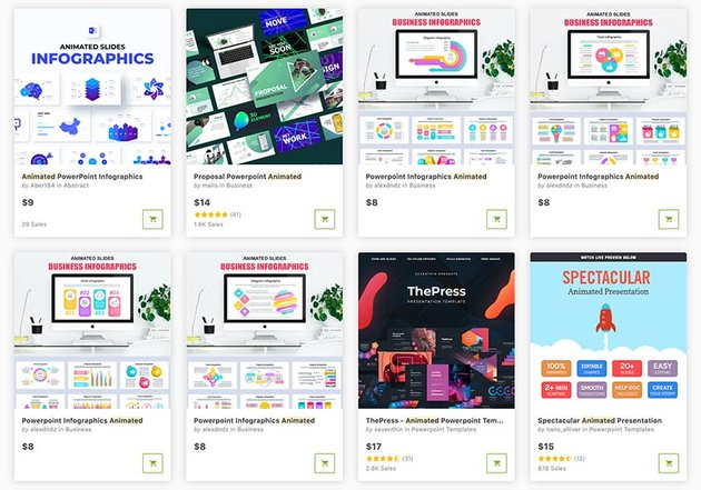 Find thousands of premium animated templates for PowerPoint in GraphicRiver.