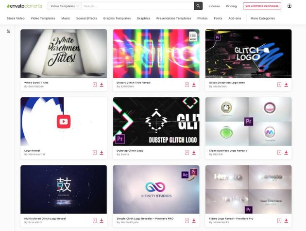 Unlimited downloads of Premiere Pro logo reveal templates