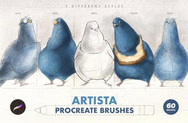 Artista Procreate Sketch Brushes