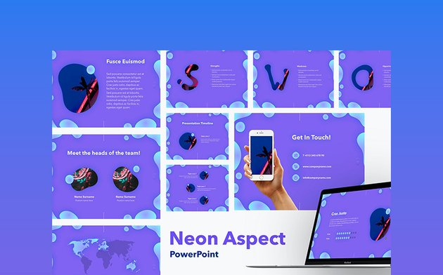 Neon Aspect - Colorful PowerPoint Template
