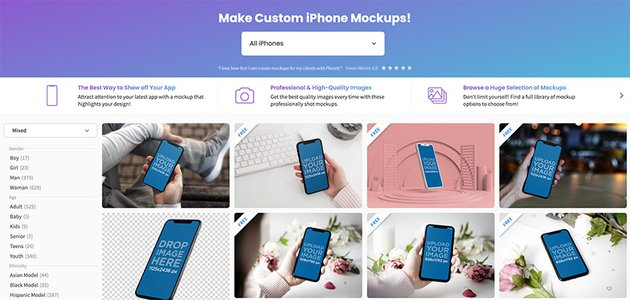 Edit iPhone templates in your browser using this iPhone mockup generator.