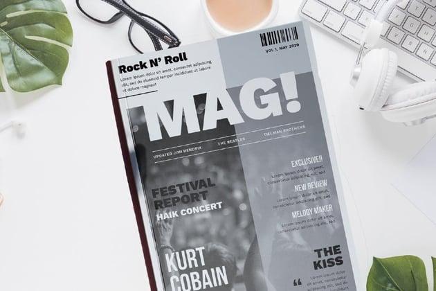 Entertainment Magazine Template