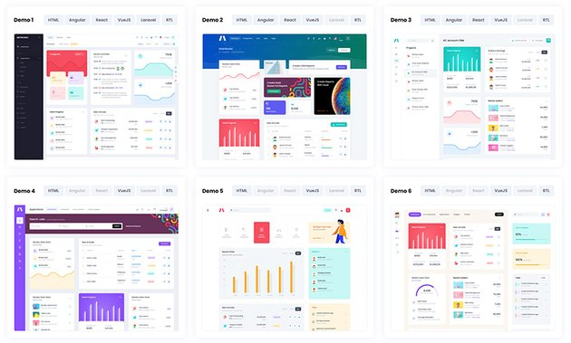This admin template HTML CSS Bootstrap offers plenty of layouts.