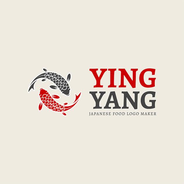 Online Logo Maker with Koi Fish Art