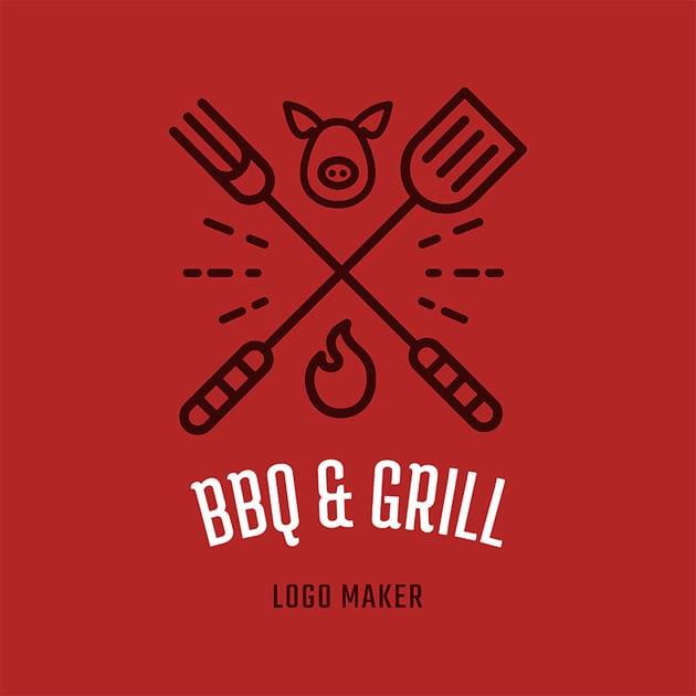 Restaurant Logo Maker with BBQ Clipart