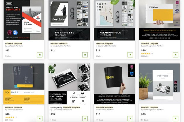 Buy premium portfolio templates one at a time from GraphicRiver