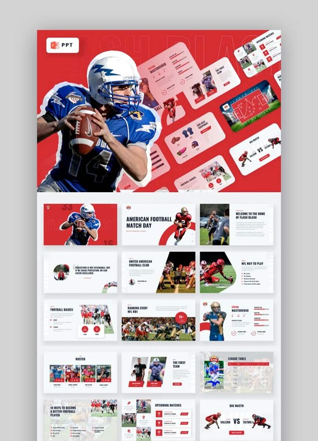 Flash Blast - American Football Powerpoint Sport Template