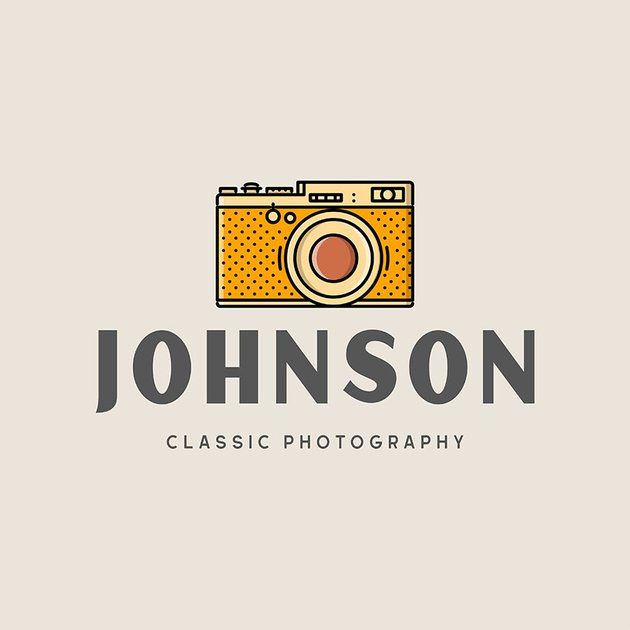Logo Template for a Classic Photography Studio