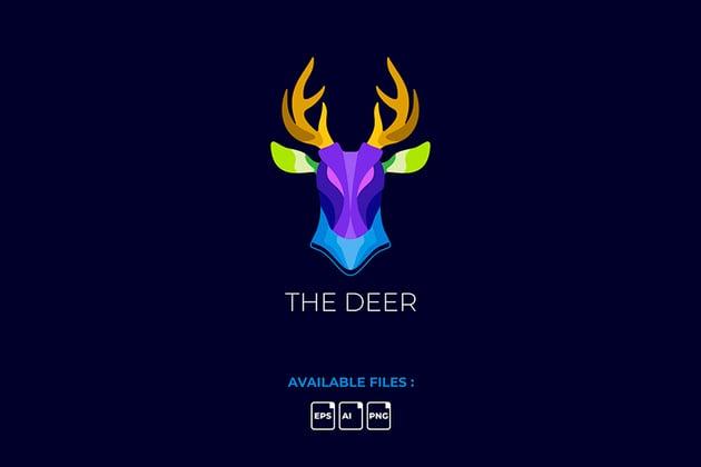 Deer Nightclub Logo Template (AI, EPS, JPG)