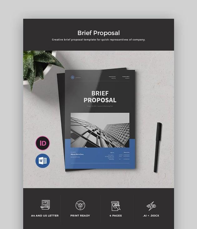 Brief Proposal - Dark MS Word Proposal Template