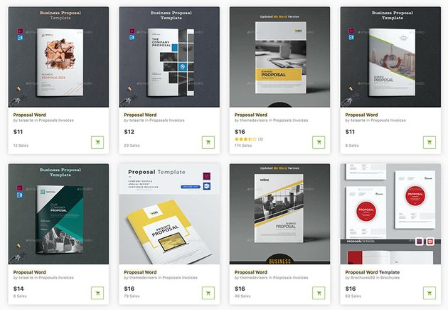 Get proposal templates for Word one at time on GraphicRiver.