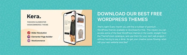 Here are the Envato Market free files WordPress themes you can get this month.