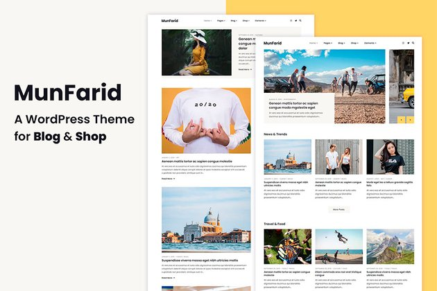 Munfarid - WordPress Theme For Blog & Shop