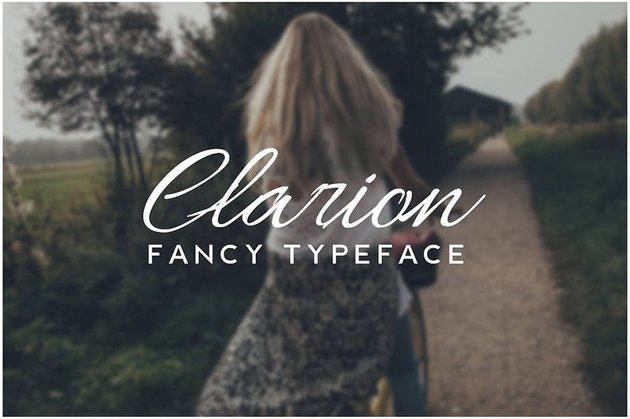 CLARION - Fancy Handwriting Decorative Typeface