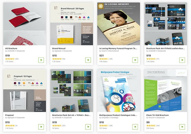 There are thousands of Photoshop brochure templates to choose from on GraphicRiver.