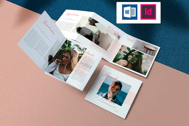 Delicate Square Brochure Design