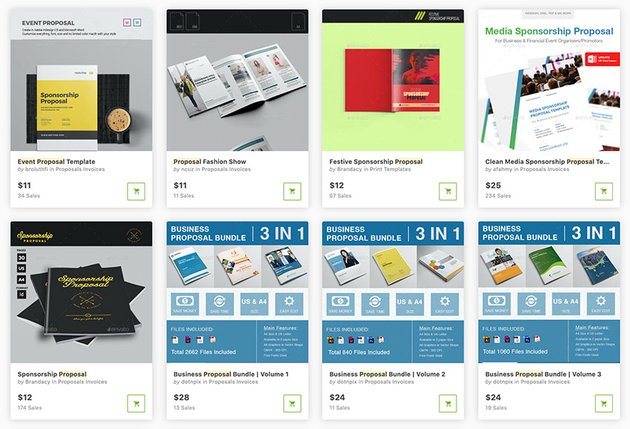 Get event sponsorship proposal templates one at a time from GraphicRiver.