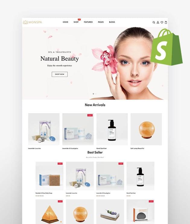 Monspa - Elegant Wellness  Spa Shopify Theme