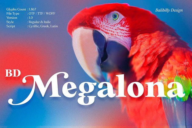 BD Megalona is one of our best small fonts for web. Get it from Envato Elements.