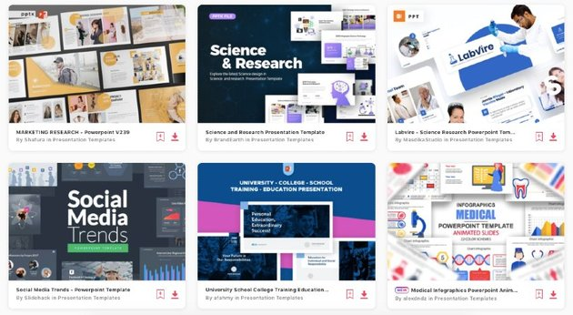 Envato Elements gives you unlimited downloads of research proposal PPT templates