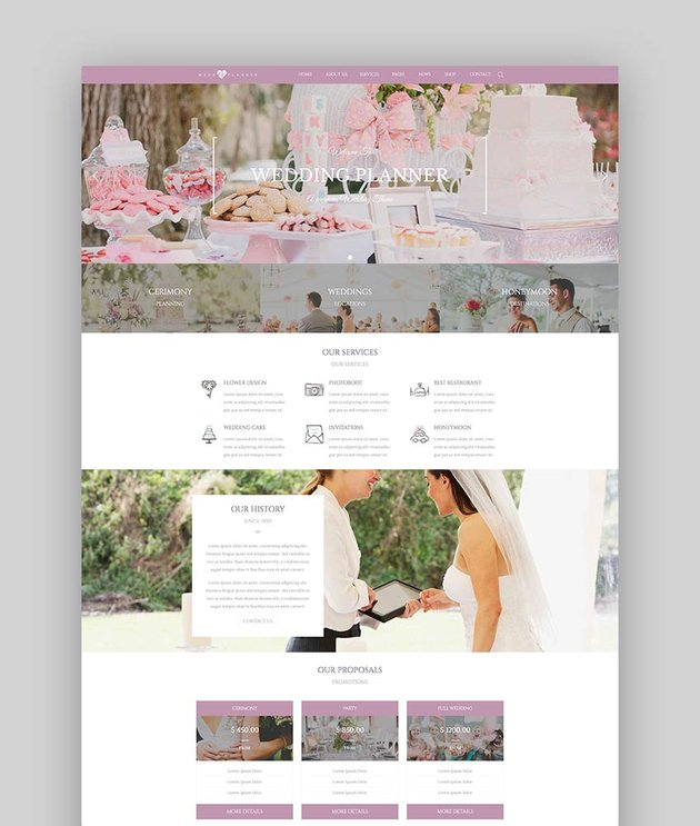 Wedding Industry Theme WordPress