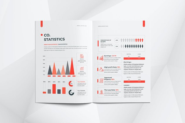 sample nonprofit annual report with infographics
