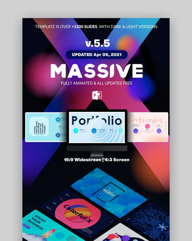 Massive X Fully Animated PowerPoint Custom Template
