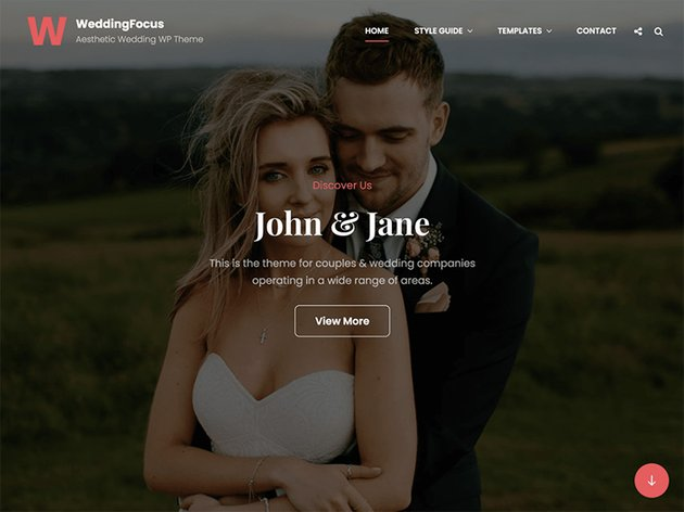 WeddingFocus - WordPress Wedding Theme Free