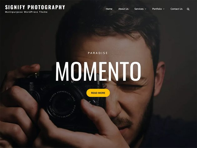 Signify Photography Free Gallery Theme