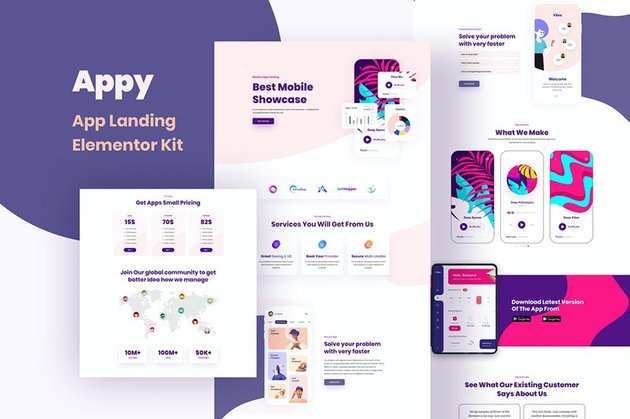 Appy - Elementor Landing Page Template Kit