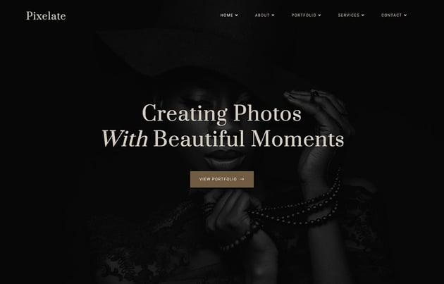 Pixelate - Elementor Portfolio Template Kit