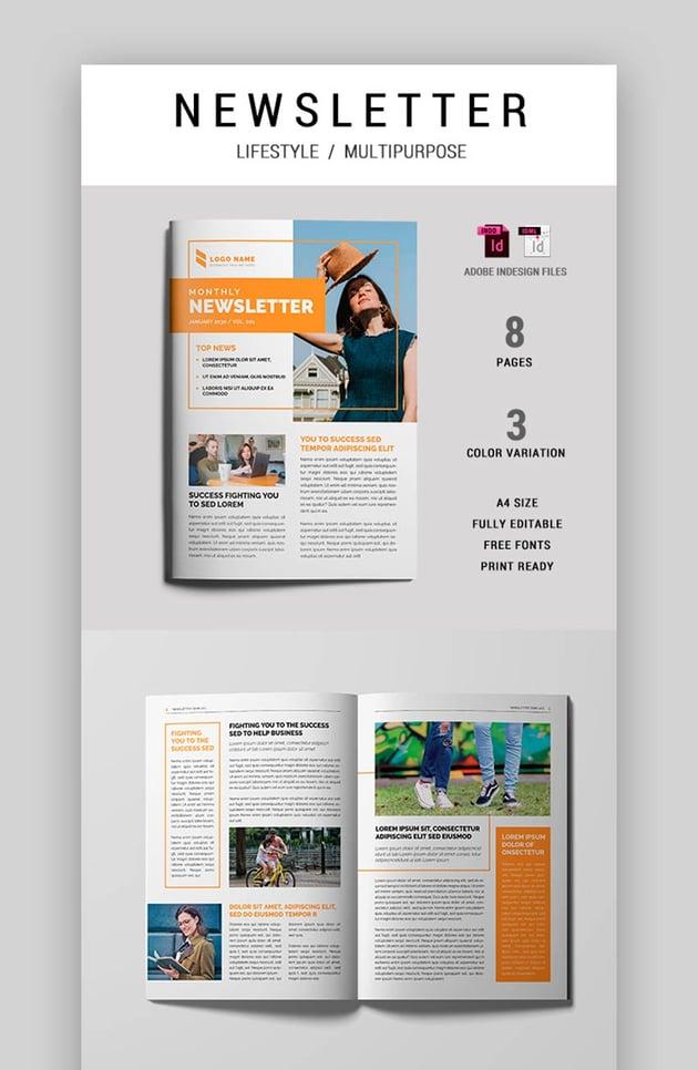 Affinity Publisher Newsletter Templates (INDD)