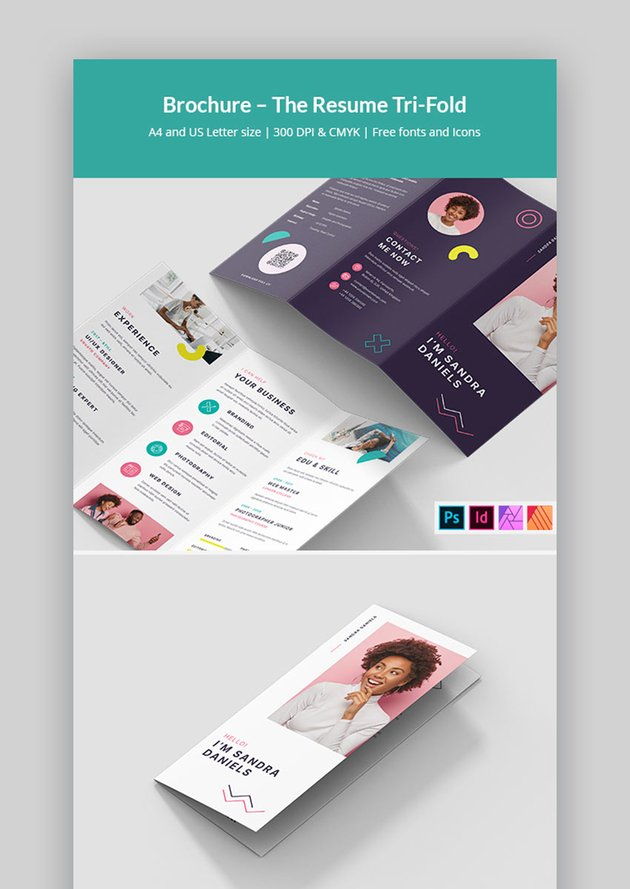 Affinity Publisher Trifold Brochure Template (INDD, PSD, AFPUB)