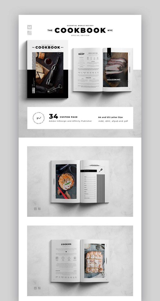 Cookbook Affinity Publisher Template (INDD, AFPUB)