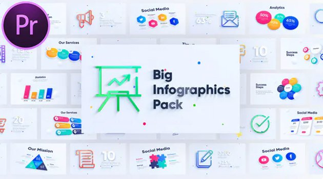 This Premiere Pro infographics template is available on Envato Elements.