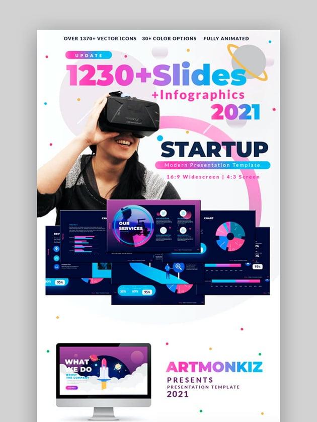 Startup Multipurpose Premium PowerPoint Template