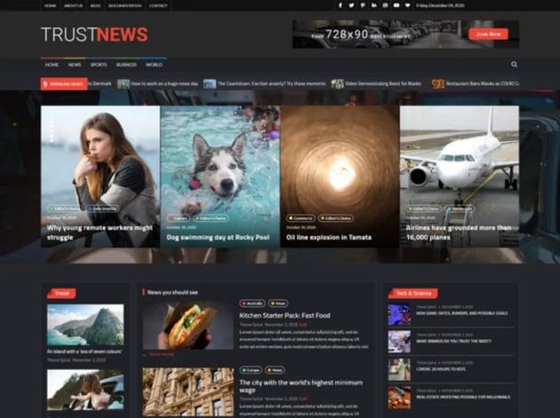 TrustNews Free WordPress News Theme
