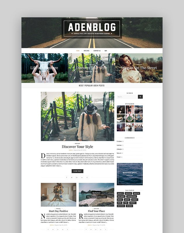Aden - WordPress Blog Theme