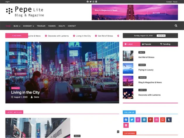 Pepe Lite Super Fast WordPress Theme