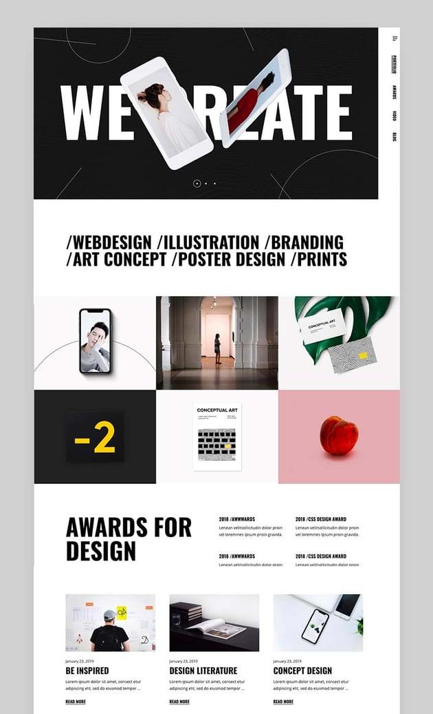 Manon - Portfolio  Agency Theme