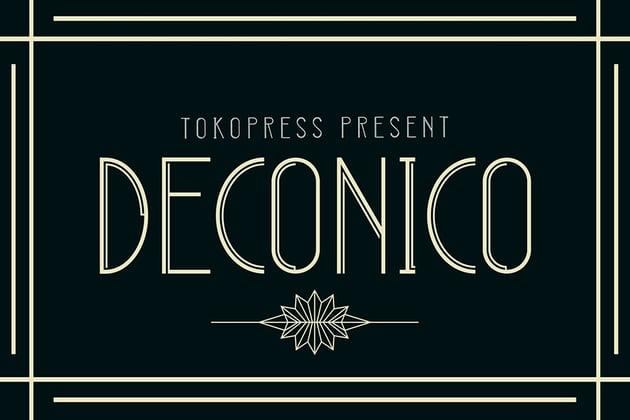 Deconico - Art Deco Font (OTF, TTF, WOFF)